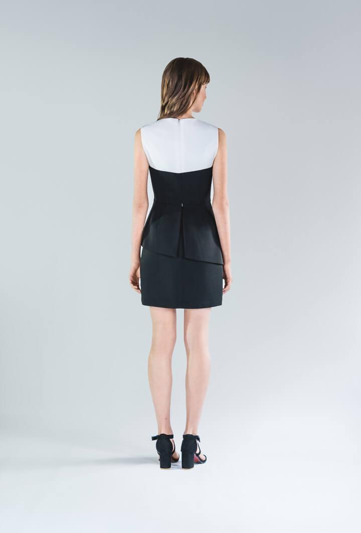 Черно-белое платье мини