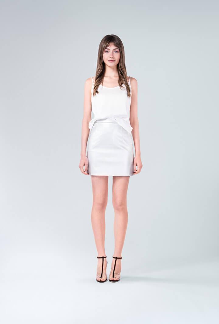 Комплект юбка Mini топ бретели
