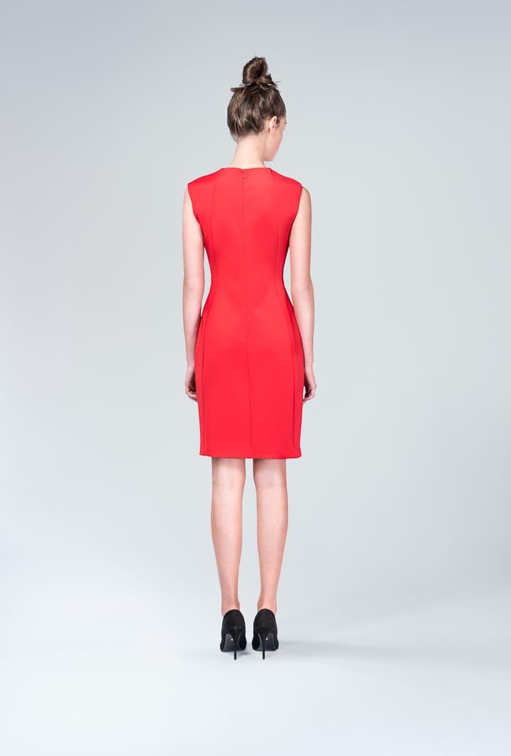 Красное платье с реверсами
