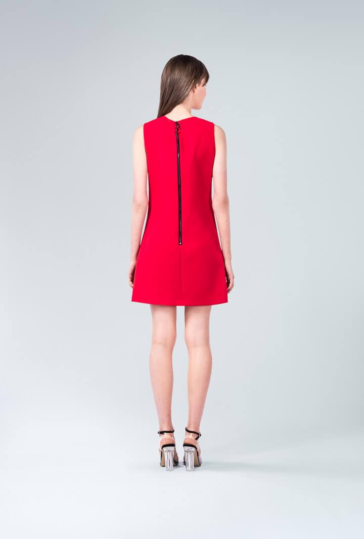 Красное платье с воланом Principal