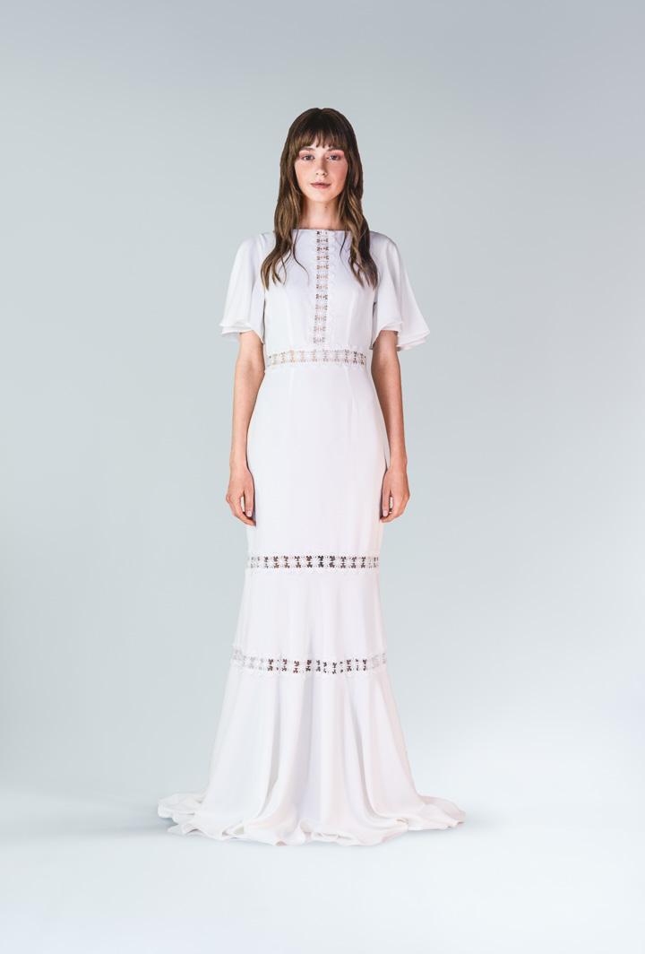 Платье белое в пол