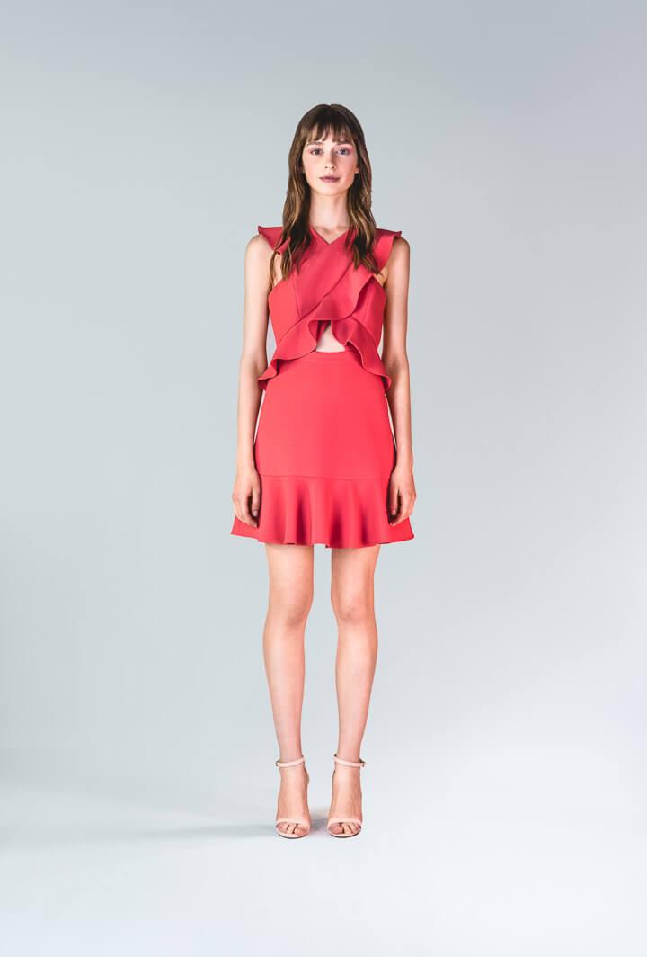 Платье Careen с воланами