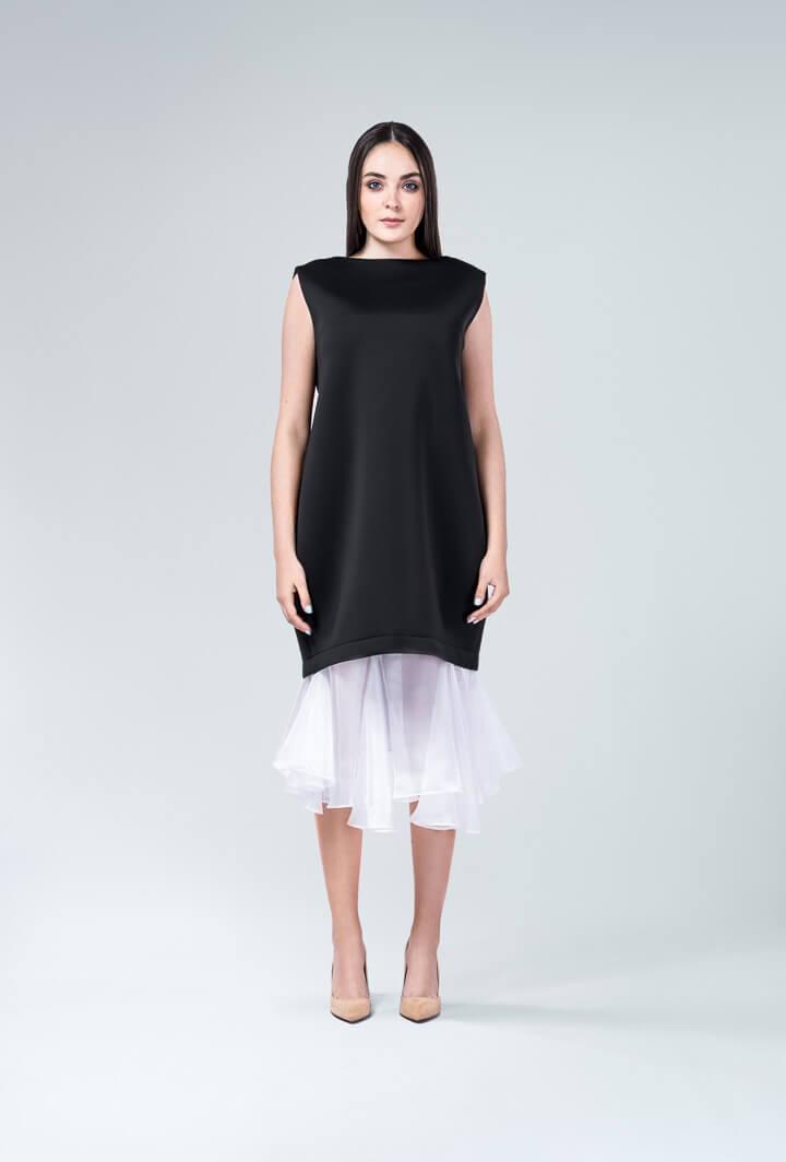 Платье чехол из неопрена черное
