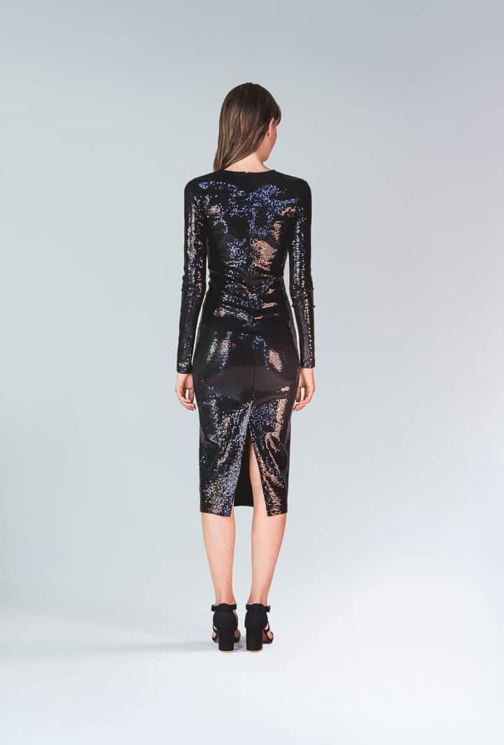 Платье чёрные пайетки