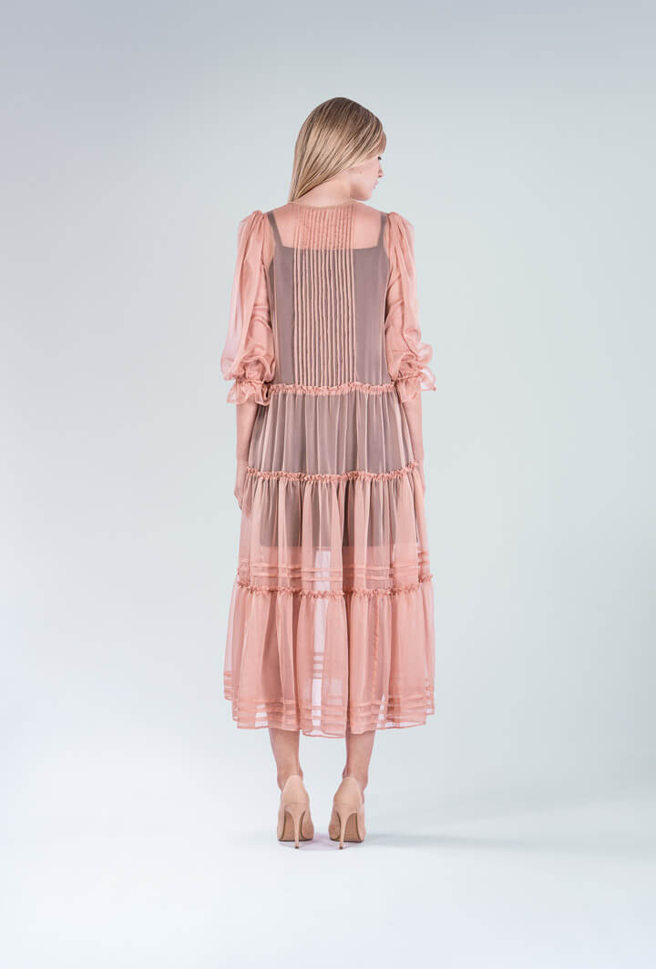 Шёлковое платье Nudе